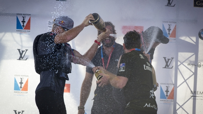 Artemis Racing wins the ACWS in  Bermuda! Race day 2 of the America's Cup World Series event in Bermuda. 18th of October, 2015, Bermuda
