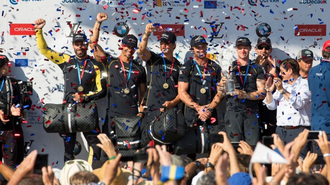 Artemis Racing wins the Louis Vuitton America's Cup Worlds Series event in Toulon. Sunday the 11th of September 2016, Toulon, France