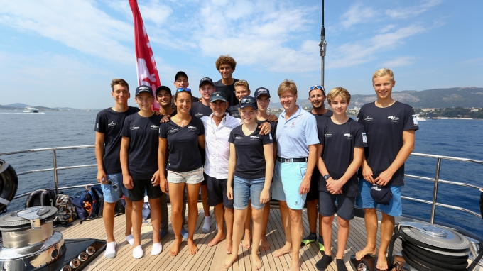 Argo Group invited young laser sailors from the C.O.Y.C.H. Cercle d'Organisation du Yachting de Compétition Hyèrois to visit the Louis Vuitton America's Cup Worlds Series event in Toulon. Saturday the 10th of September 2016, Toulon, France