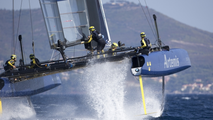 Artemis Racing getting ready for the Louis Vuitton America's Cup Worls Series event in Toulon. Thursday 8th of September, 2016, Toulon, France