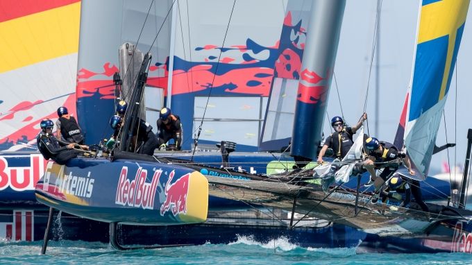 Artemis Youth Racing in the Red Bull America's Cup winning their group A after the second day. 16th of June, 2017, Bermuda