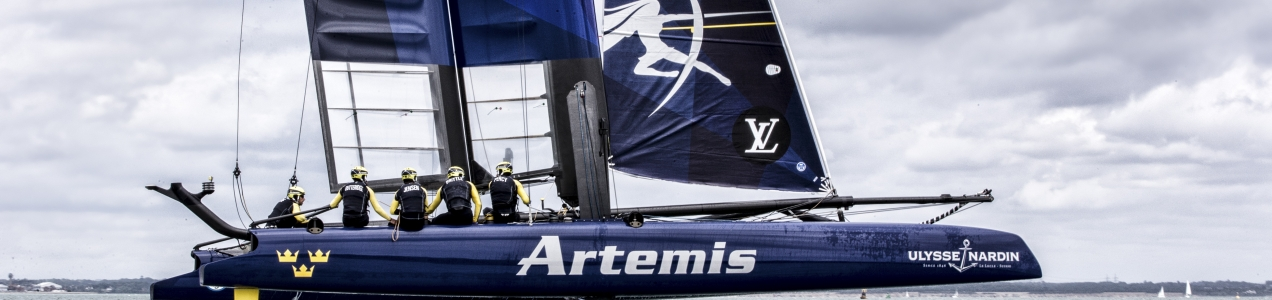 First outing on the new AC45F. Artemis Racing.  14th of July, 2015, Portsmouth, UK